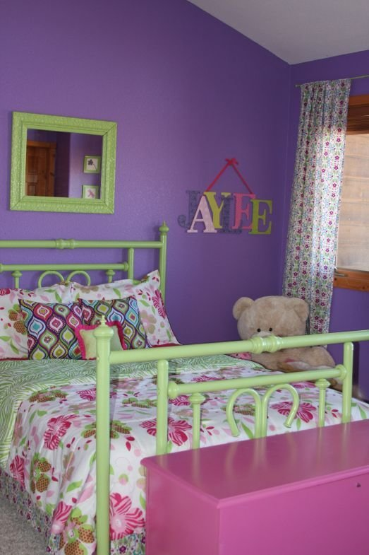 Best Purple Green And Pink The Blog Green Girls Rooms With Pictures