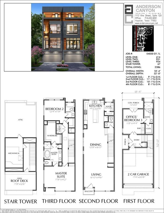Best Duplex Townhouse Plan E4050 Apartments In 2019 Duplex With Pictures