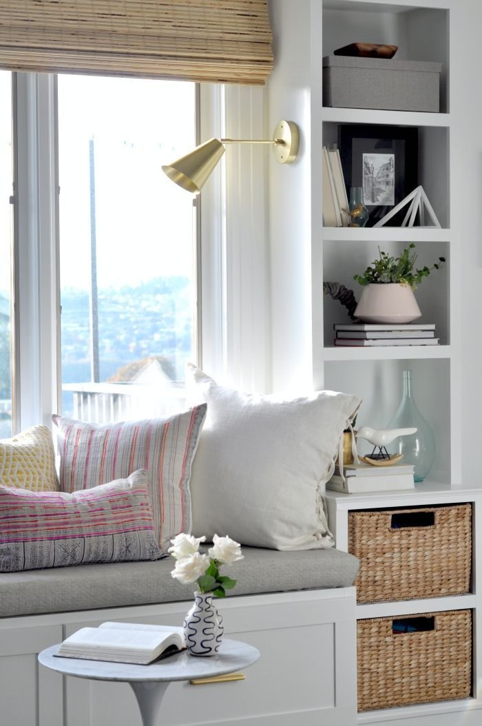 Best White Window Seat With Builtins Home Inspiration In 2019 With Pictures