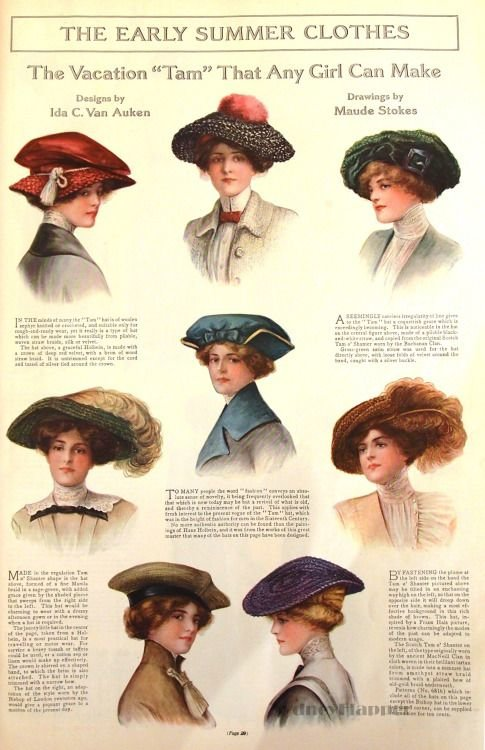 Free Hats May 1912 Ladies' Home Journal Steam Deco Wallpaper