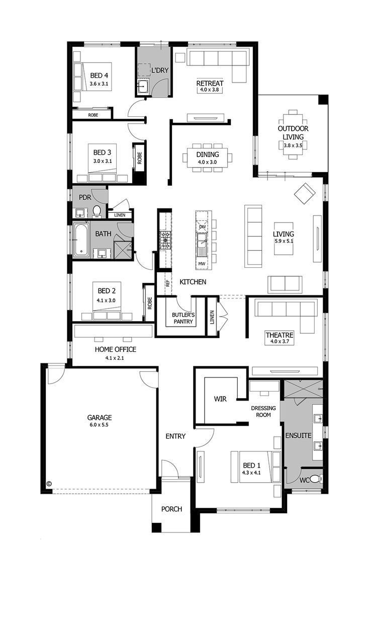 Best Image Result For House Plan Bed 2 And 3 Sharing Ensuite With Pictures