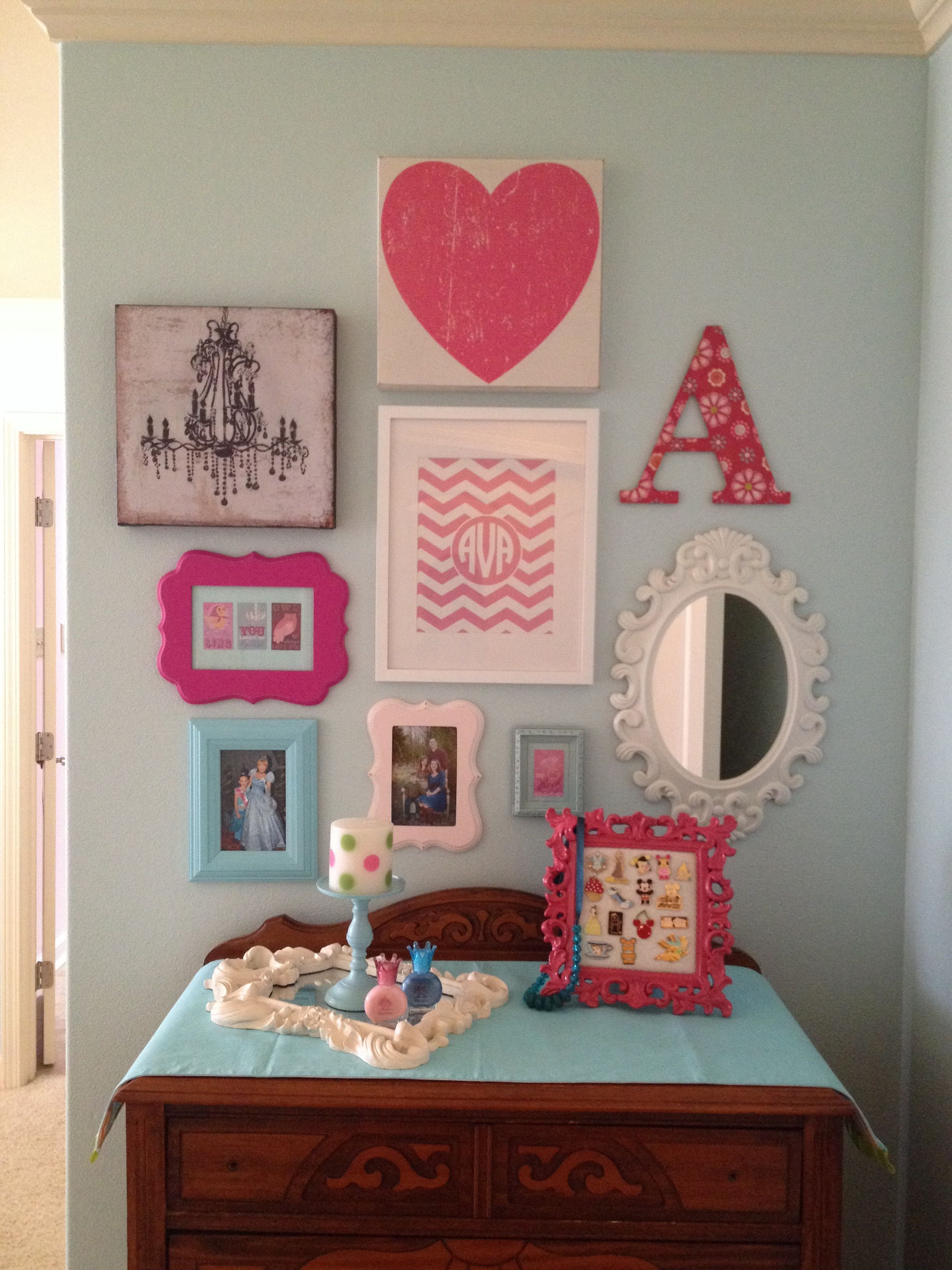 Best Girls Room Gallery Wall Gallery Wall Ideas In 2019 With Pictures
