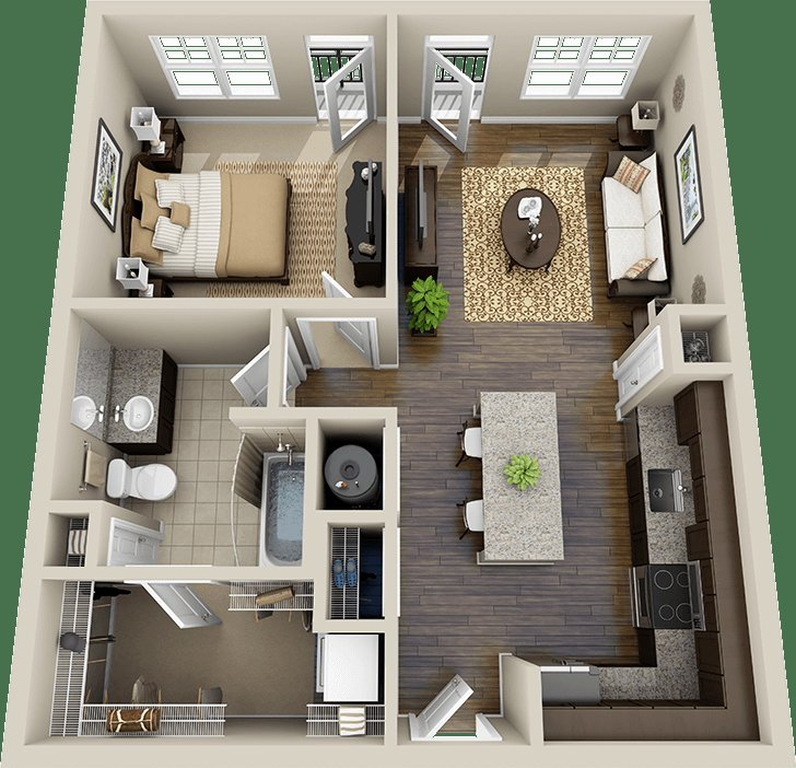 Best The 25 Best 1 Bedroom Flat Ideas On Pinterest Flat House Design Garage Granny Flat And With Pictures