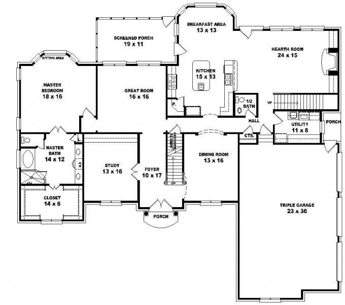 Best 653616 2 Story French Style Floor Plan With 5 Bedrooms With Pictures