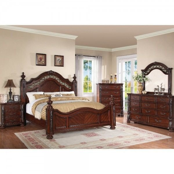Best Charleston Bedroom Bed Dresser Mirror Queen 55860 With Pictures