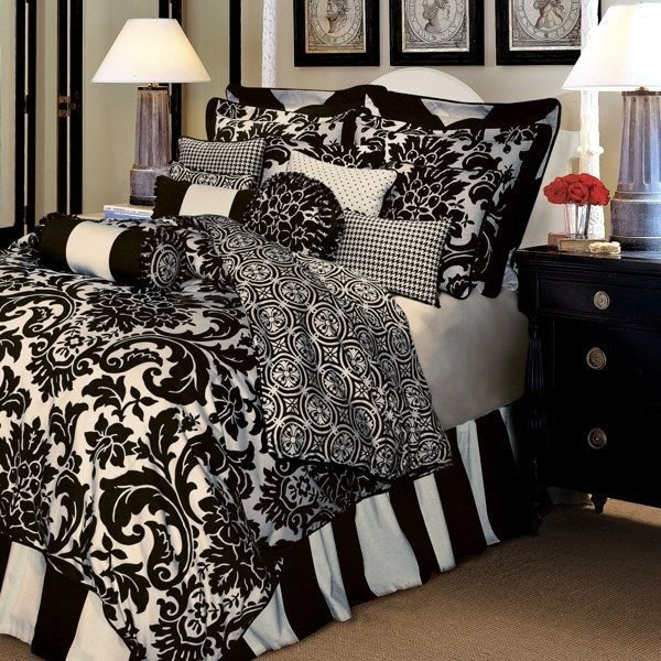 Best Black And White Damask Bedding Home Sweet Home Damask With Pictures