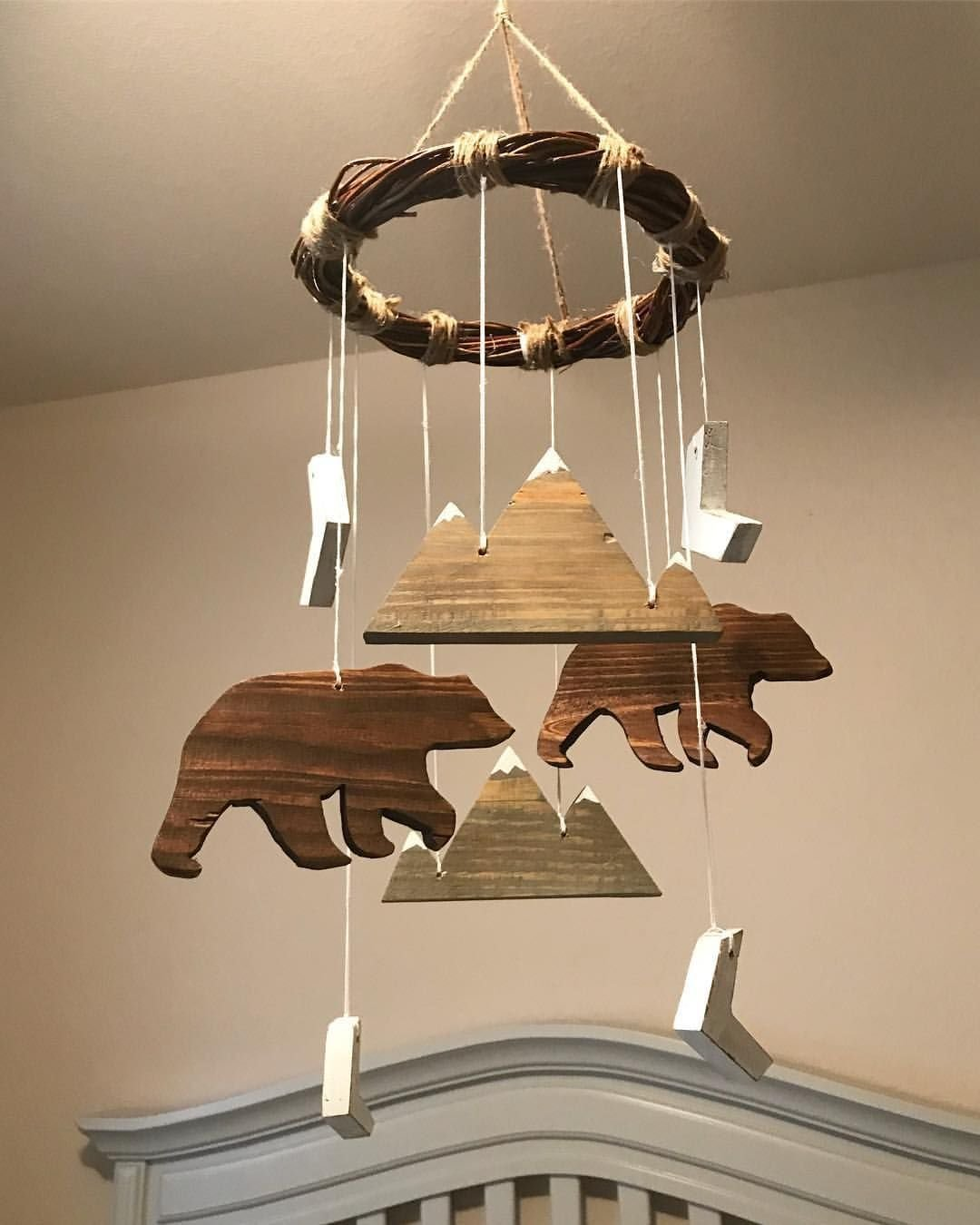 Best Woodland Lumberjack Mobile Bear Mountain Baby Mobile With Pictures