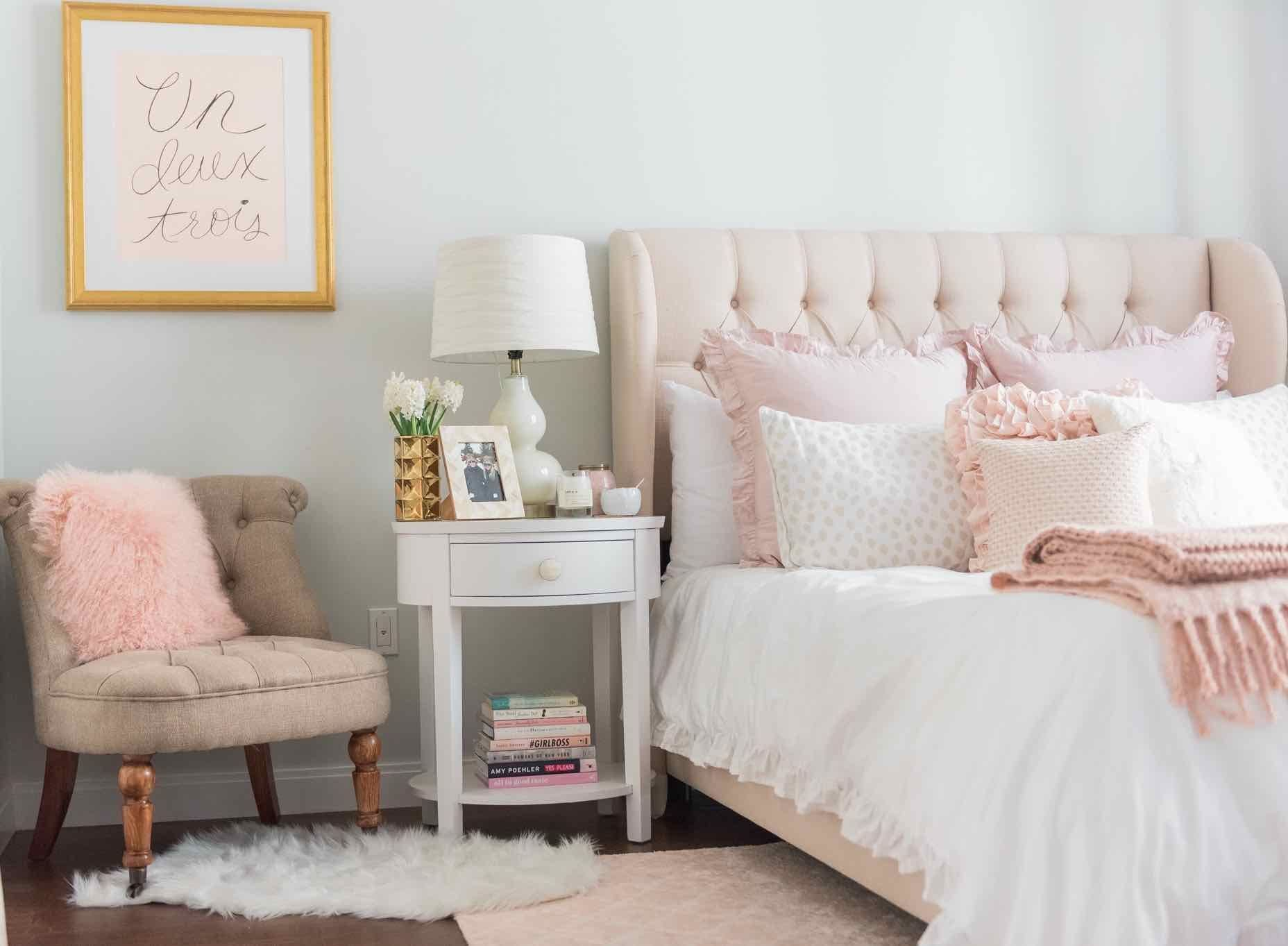 Best This Lush Pink Bedroom Is Flushed With Soft Details With Pictures