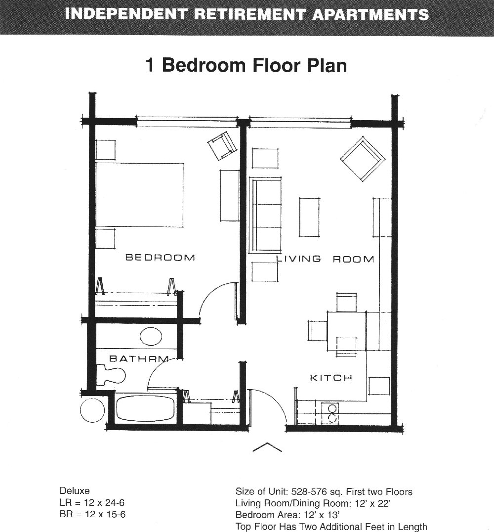 Best One Bedroom Apartment Open Floor Plans Innovative With With Pictures