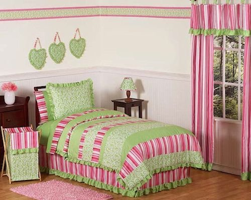Best Pink Lime Green Girl Comforter Sets Twin Full Queen With Pictures