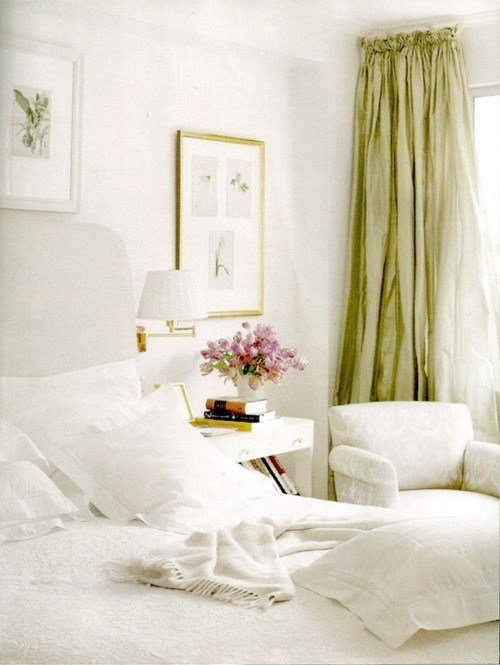 Best White With Green And Gold Bedroom With Pictures