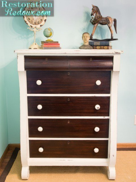 Best Two Tone Furniture Makeovers Canary Street Crafts With Pictures