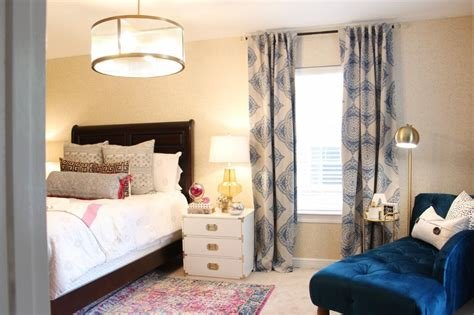 Best Pink And Blue Transitional Bedroom Reveal Before After With Pictures
