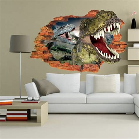 Best 3D Wall Sticker Dinosaur Jurassic Park Jurassic Park Store With Pictures
