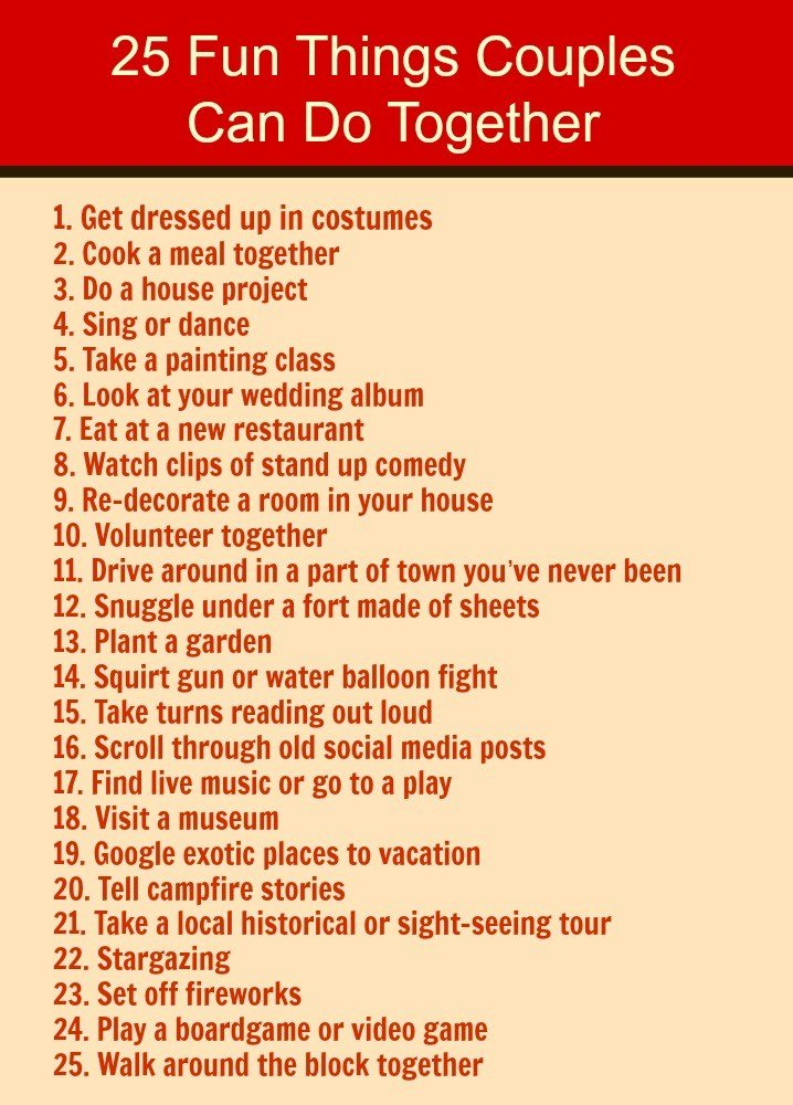 Best 25 Fun Things You Can Do With Your Spouse Love Hope Adventure Marriage Advice For Christian With Pictures