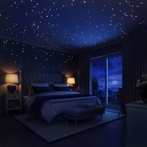 Best Glow In The Dark Stars Wall Stickers 252 Dots And Moon With Pictures