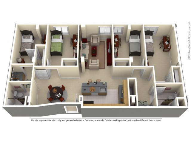 Best 2 4 Bed Apartments 100 Midtown With Pictures