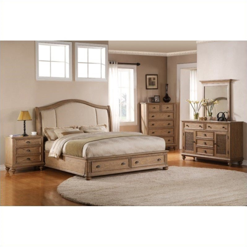 Best Riverside Coventry 5 Piece Queen Bedroom Set In Driftwood With Pictures