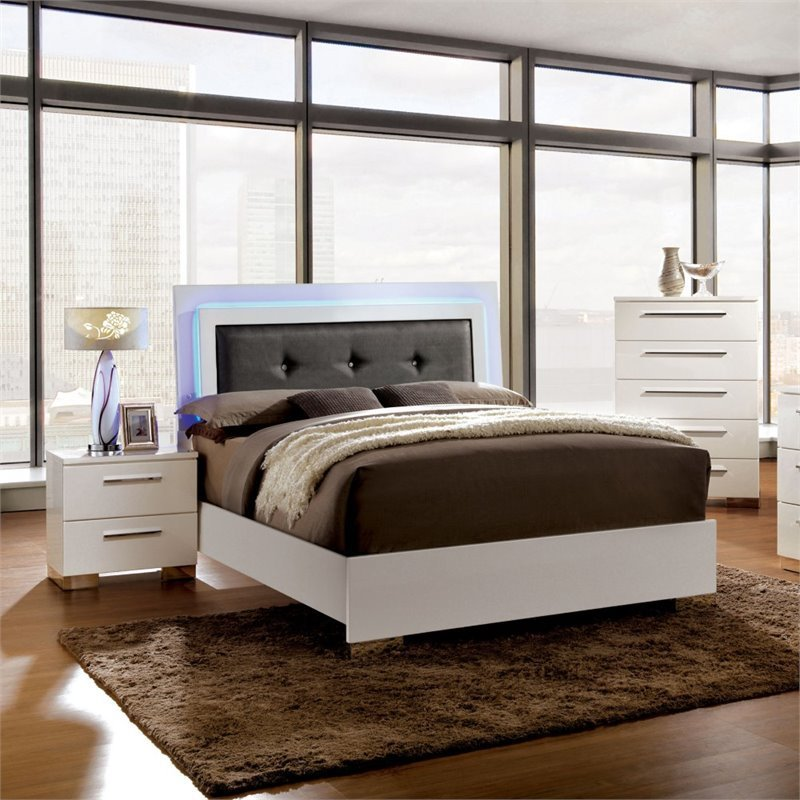 Best Furniture Of America Rayland 3 Piece King Led Panel With Pictures
