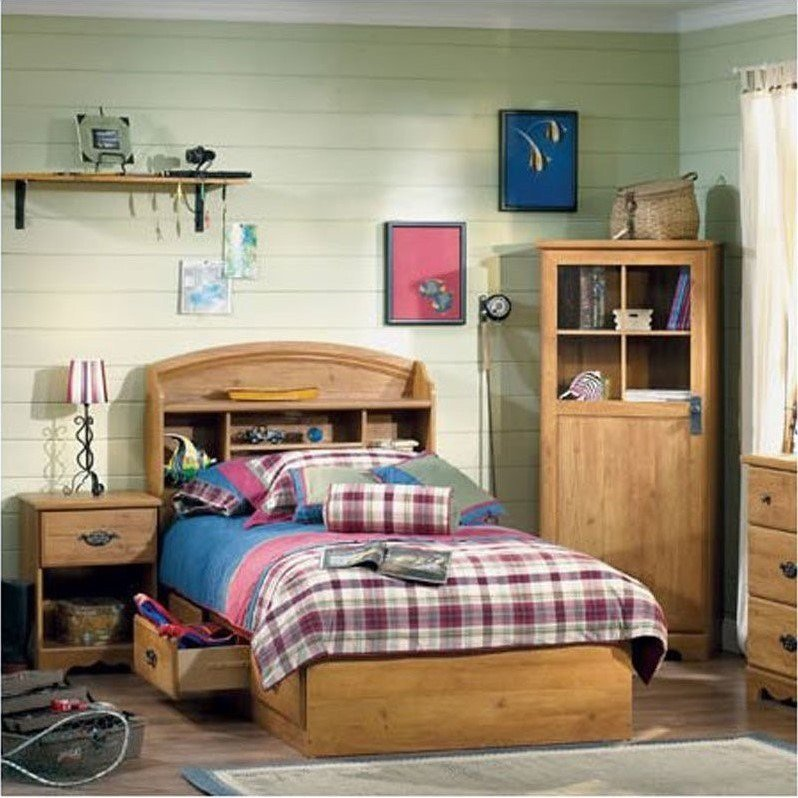 Best South Shore Prairie Twin Country Pine 3 Piece Kids Bedroom Set 3232 080 Pkg With Pictures