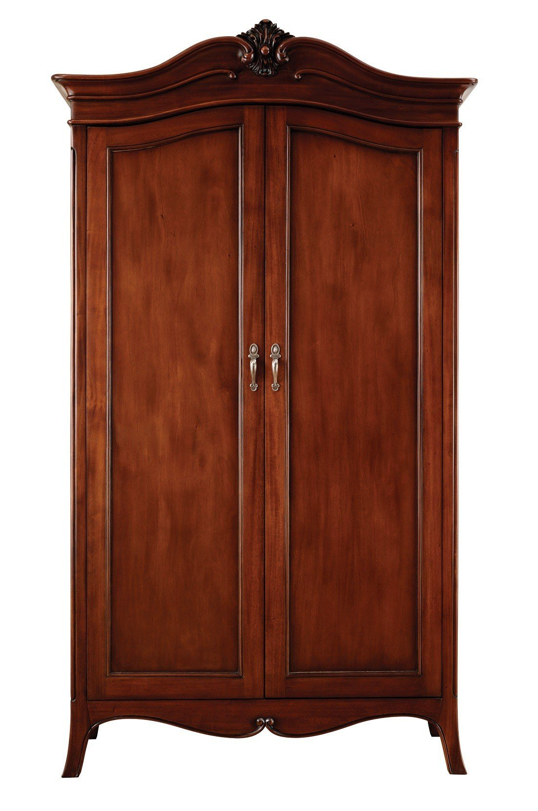 Best Louis French Solid Mahogany 2 Door Double Wardrobe Oak With Pictures