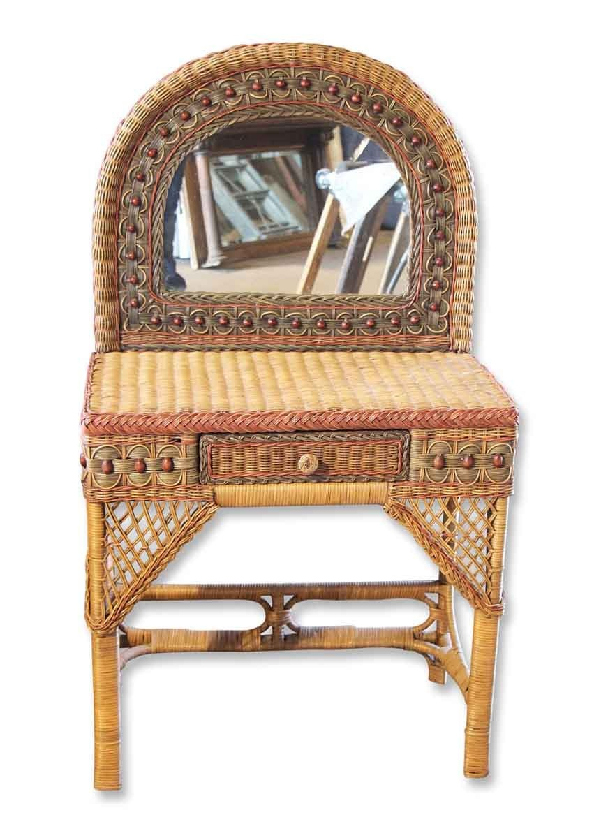 Best Petite Vintage Wicker Vanity Olde Good Things With Pictures