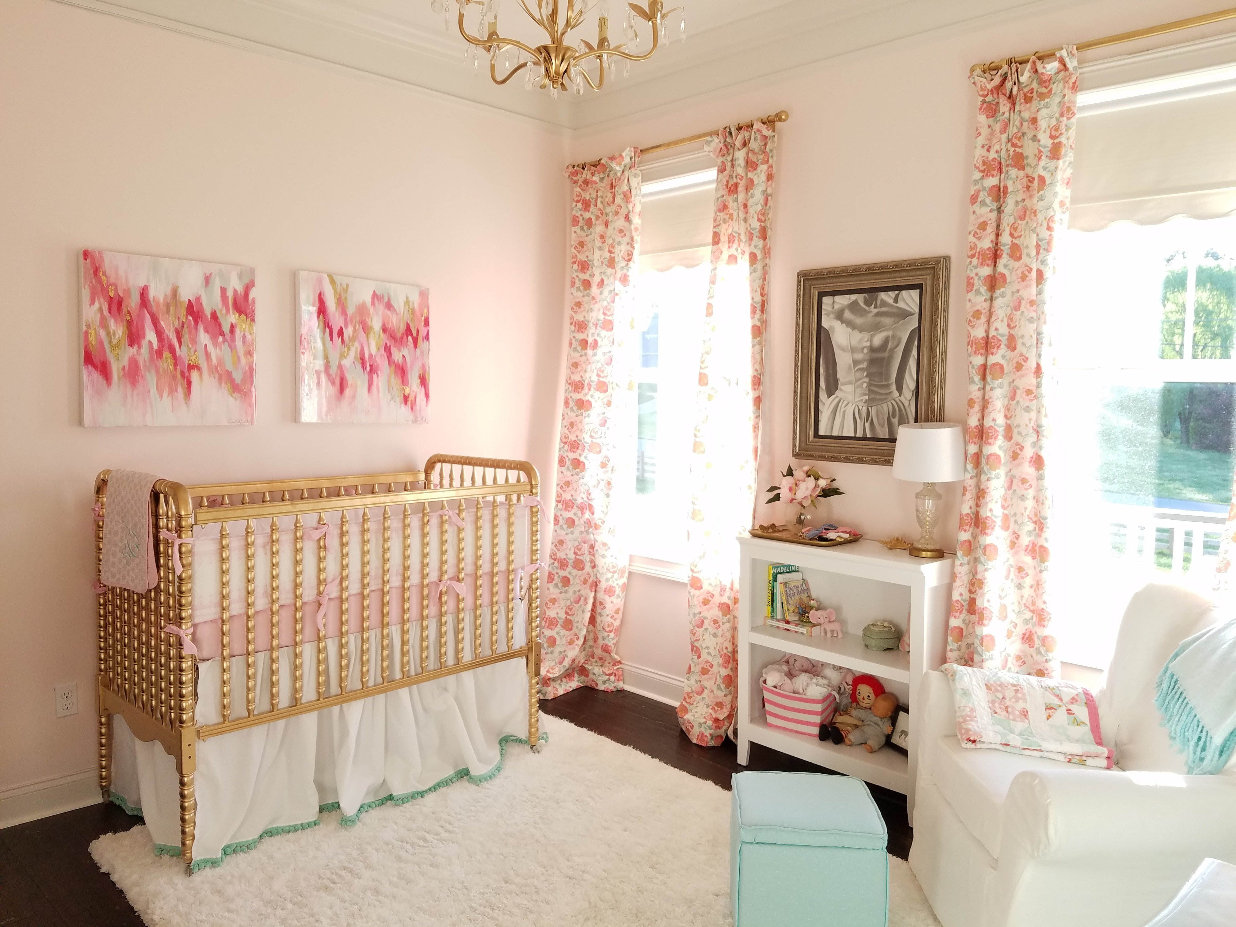 Best Pink Mint And Gold Nursery Project Nursery With Pictures