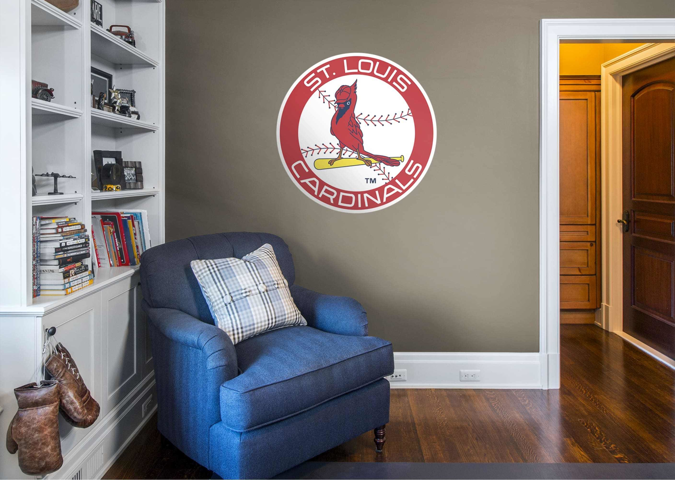 Best St Louis Cardinals Classic Logo Giant Officially Licensed Mlb Removable Wall Decal With Pictures