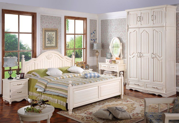 Best Country Design Wooden Bedroom Furniture Two Colors White With Pictures