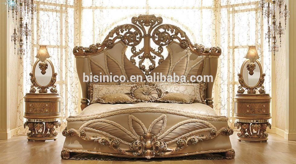 Best Luxurious European Rococo Wooden Bedroom Set Palace Royal Hand Carved Bedroom Furniture Moq 1 With Pictures