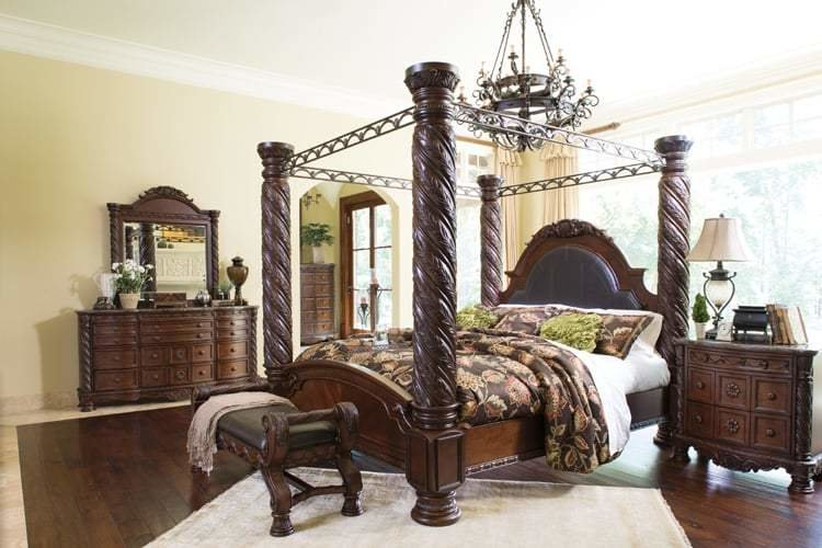 Best Ashley North Shore Poster Bedroom Set Yelp With Pictures