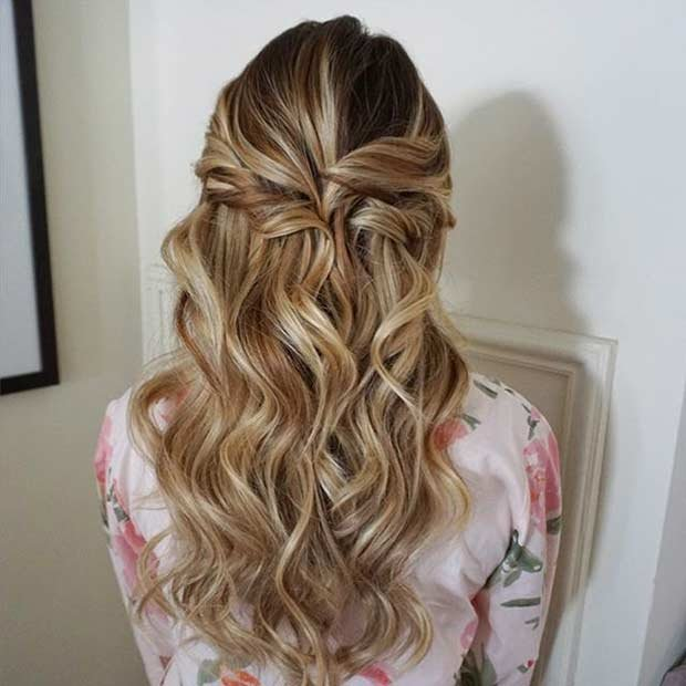 Free 31 Half Up Half Down Prom Hairstyles Page 2 Of 3 Stayglam Wallpaper