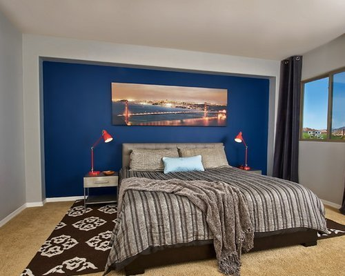 Best Blue Accent Wall Houzz With Pictures