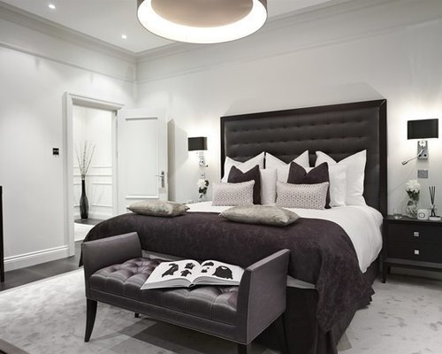 Best Black And Grey Bedroom Houzz With Pictures