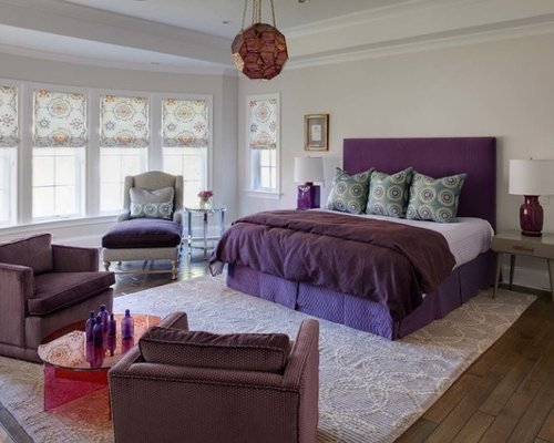 Best Purple Grey Bedroom Houzz With Pictures