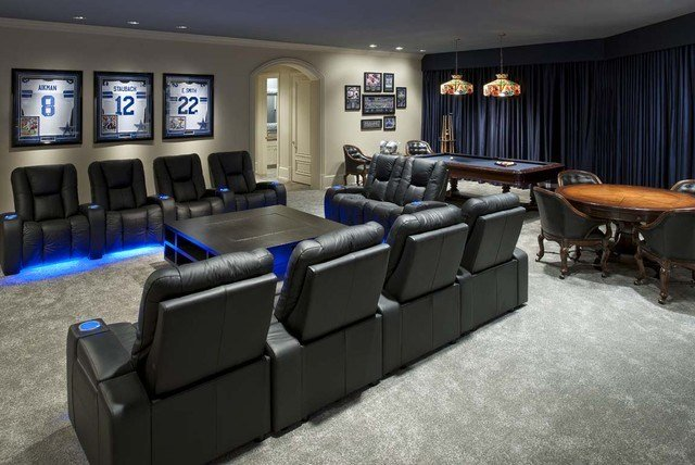 Best Italian Style Abode Home Theater Contemporary Home With Pictures