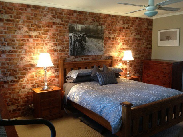Best Brick Wallpaper Accent Wall In Bedroom Rustic Bedroom Perth By Total Wallcovering With Pictures