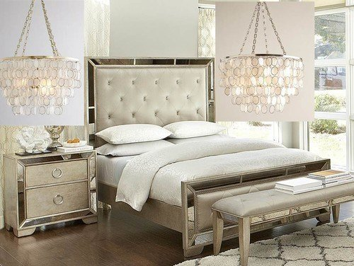 Best Gold Or Silver Chandelier For This Bedroom Set With Pictures