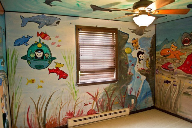 Best Octonauts Kid S Room Mural Eclectic Kids New York With Pictures