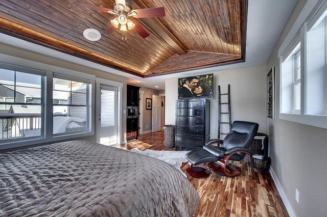 Best Master Bedroom With Vaulted Wood Ceiling Traditional With Pictures