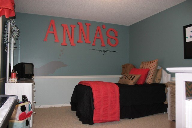 Best 11 Year Old Girls Bedroom Project Custom Wall Mural Coastal Bedroom Kansas City By Pezzo With Pictures