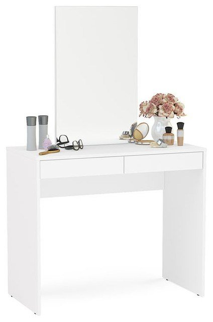 Best Boahaus Contemporary Vanity Set Dressing Table With Mirror With Pictures