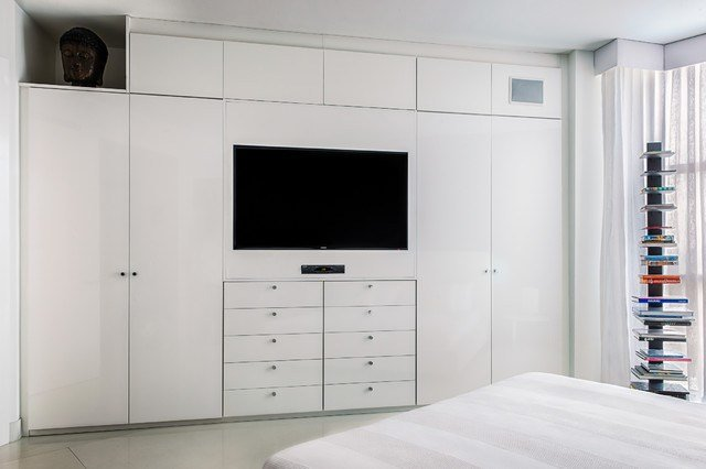 Best Wardrobe Tv Unit Contemporary Bedroom Miami By With Pictures