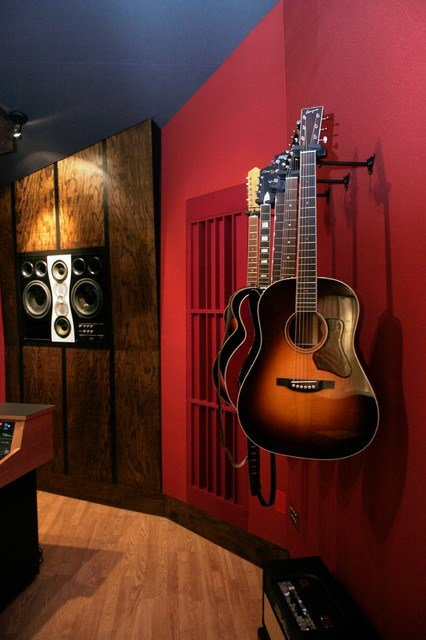 Best Spyglass Studio Wall Detail Modern Home Theater Austin By Watermark Company With Pictures