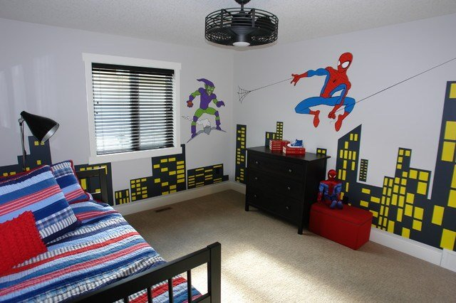 Best Boys Spiderman Bedroom Modern Kids Calgary By Sara With Pictures