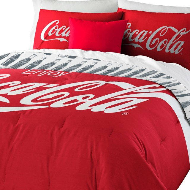 Best Coca Cola Logo Bedding Set Coke Comforter Sheets Shams With Pictures