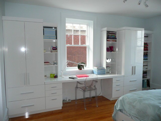 Best Desk Wall Unit Contemporary Bedroom Montreal By Jazzy Manufacture And Design With Pictures