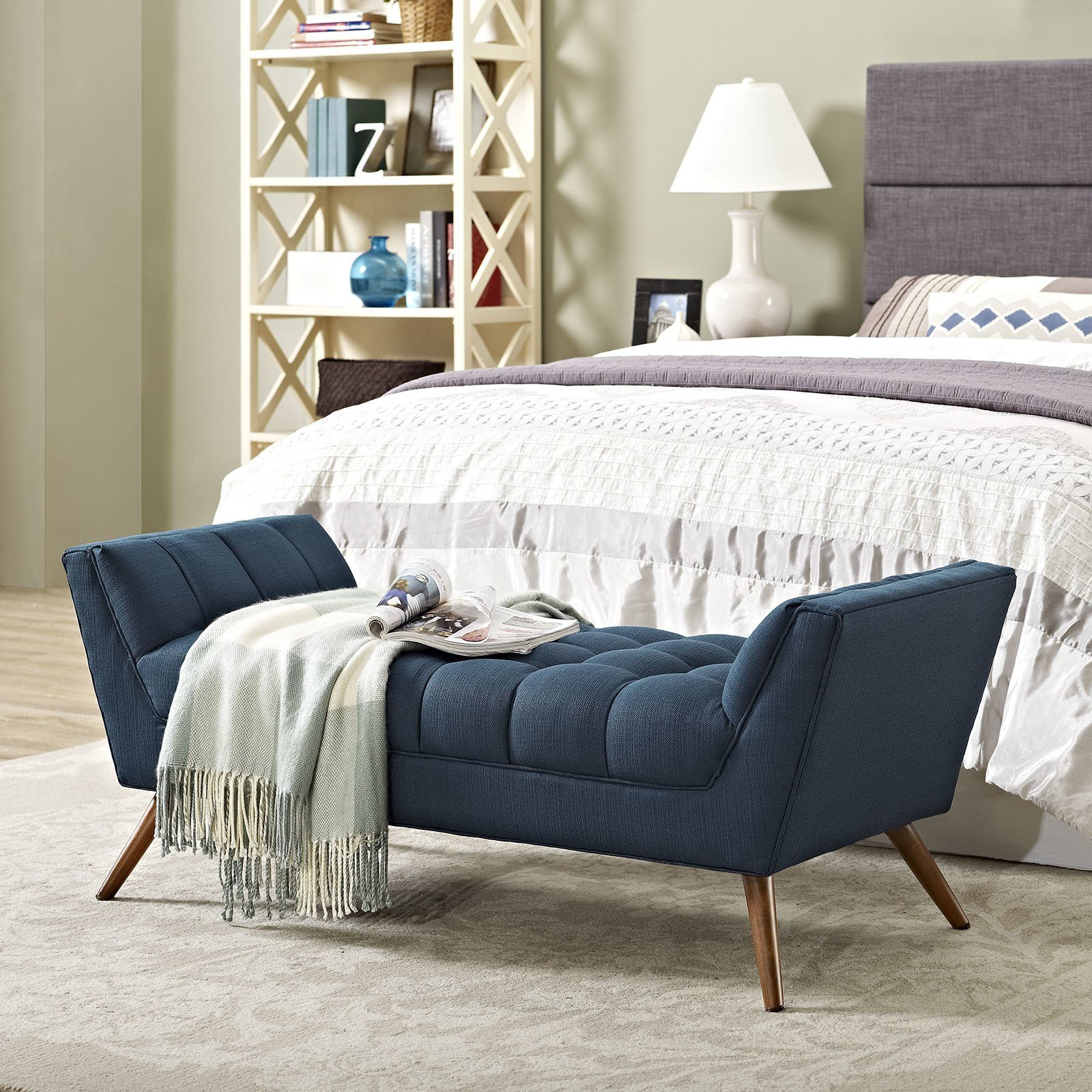 Best Response Upholstered Bedroom Bench Wayfair With Pictures