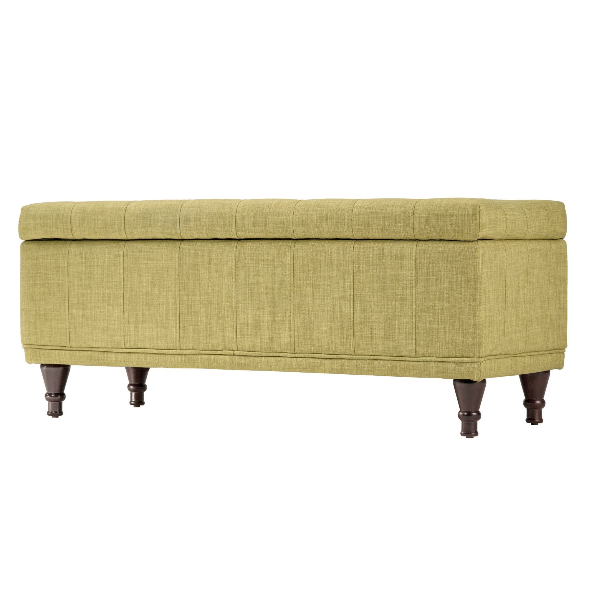 Best Three Posts Southampton Upholstered Storage Bedroom Bench With Pictures