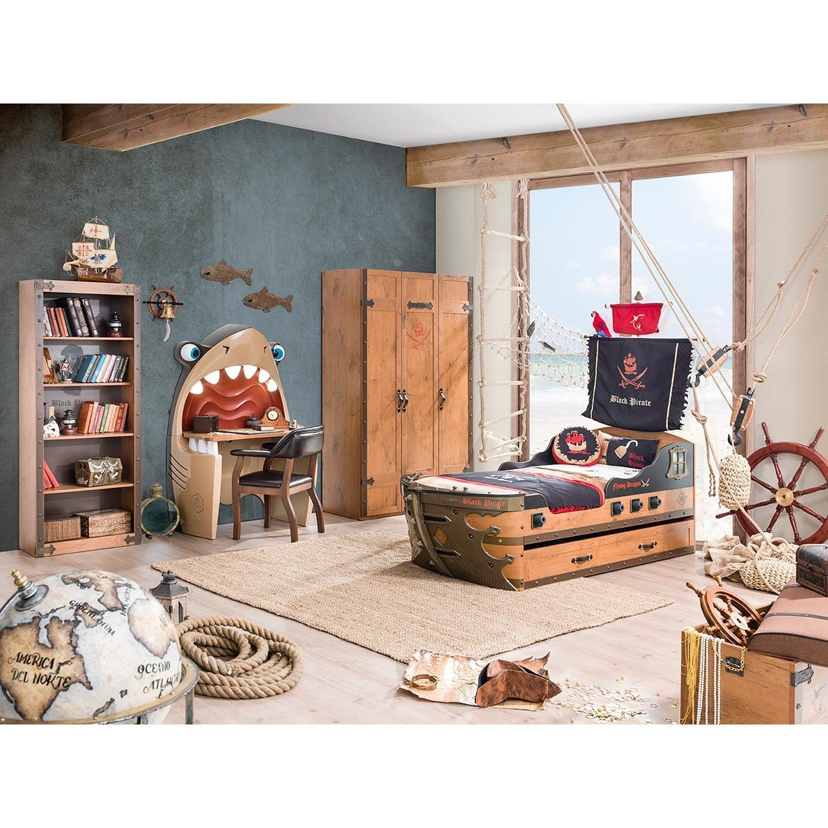 Best Pirate Armada Ship Twin Captain Bed Wayfair With Pictures